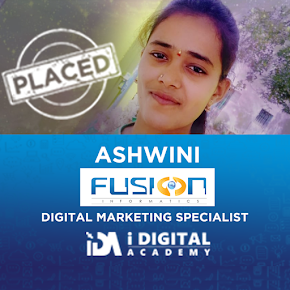 Ashwini Placed as Digital Marketer at Fusion Informatics