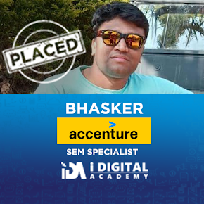 Bhasker Placed in Accenture as Paid Marketing Specialist
