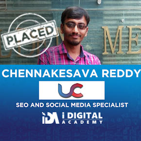 Digital Marketing Placement for Chennakesava at UC Web Technologies