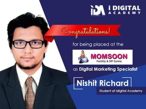 Digital Marketing Placement for Nishit at Momsoon